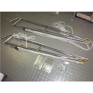 """Boaters' Resale Shop of TX 1907 1441.01 ST. CROIX 53"""" STAINLESS STEEL DAVIT SET"""