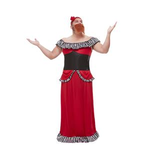 Circus Freak Show Bearded Lady Adult Mens Costume XL