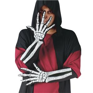 Fun World Skeleton Glove And Wrist Bone Adult Gloves
