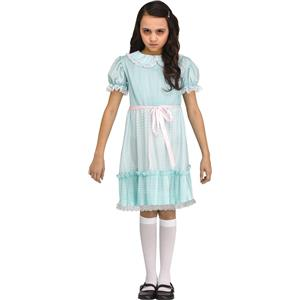 Twisted Twin Creepy Blue Girl Dress Child Costume Large 12-14