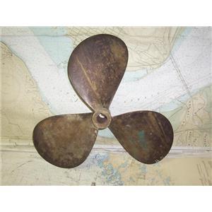"Boaters' Resale Shop of TX 1907 0254.07 BRONZE 3 BLADE 19RH13 PROP - 1.25"" SHAFT"