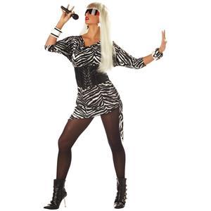 80s Diva Video Lady Vixen Adult Ga Costume Ga Retro Small/Medium 6-10
