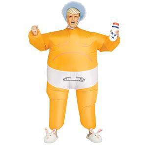 Adult Baby President Inflatable Donald Trump Costume Orange