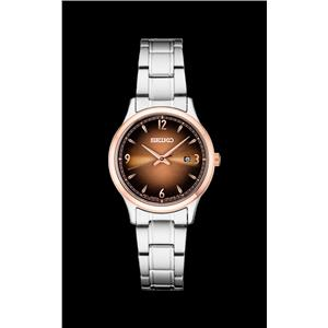 Seiko Womens SXDH02 Ladies Two Tone Silver/Rose Gold. Stainless Steel Watch.