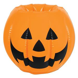 Inflatable Pumpkin Jack O Lantern Beverage Cooler