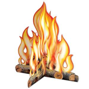 3-D Campfire Centerpiece Decoration