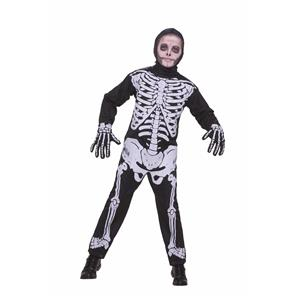 FORUM Skeleton Child Costume Jumpsuit Size Medium 8-10
