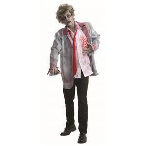 Zombie Man Formal Suit Groom Adult Costume