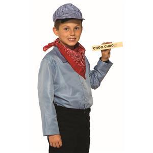 Train Engineer Costume Kit Bandanna, Hat and Whistle
