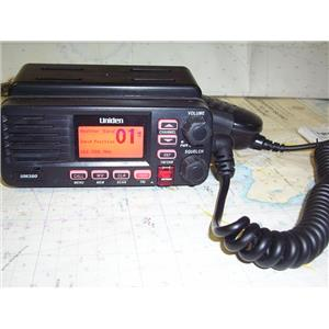 Boaters' Resale Shop of TX 1908 0757.01 UNIDEN UM380 VHF RADIO, MANUAL & BRACKET