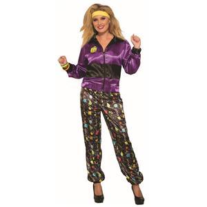 80's Women's Track Suit Retro Adult Costume Standard