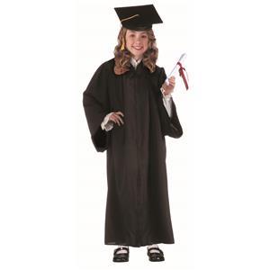 Child Unisex Black Full Length Graduation Robe Costume