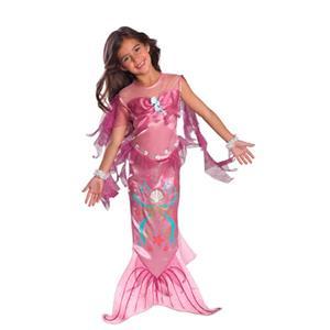 Pink Mermaid Child Girls Costume Size Medium 8-10