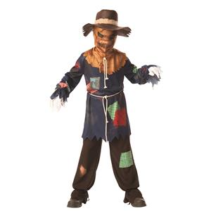 Sinister Scarecrow Scary Farm Boys Costume Large