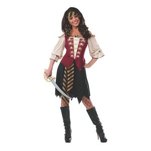 Elegant Pirate Cute Deck Hand Adult Costume Size Small 2-6