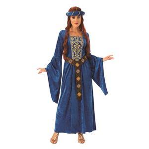 Medieval Renaissance Maiden Blue Princess Dress Costume Small