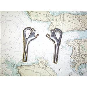 Boaters' Resale Shop of TX 1904 4722.01 PAIR OF STAINLESS STEEL PELICAN HOOKS