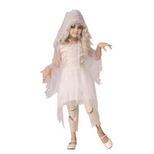 Ghostly Spirit White Dress Girls Costume Medium 8-10