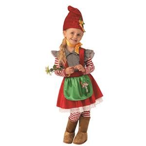 Garden Gnome Troll Girl Costume X-Small Toddler