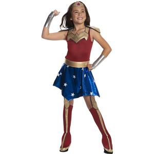 Wonder Woman Super Hero Deluxe Girls Costume Small 4-6
