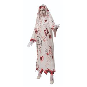 Bloody White Nun Zombie Robe Costume Standard