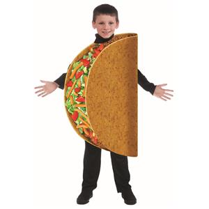 Taco Bout It Child Mexican Food Costume One Size