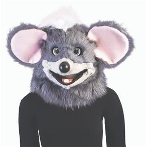 Chuck Cheese Gray Mouse Head with Moving Jaw Costume Mask