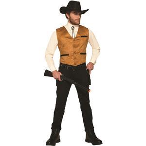 Western Brown Cowboy Gambler Costume Vest