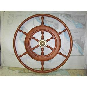 "Boaters' Resale Shop of TX 1909 1024.02 WOODEN 30"" Defever SHIPS WHEEL"