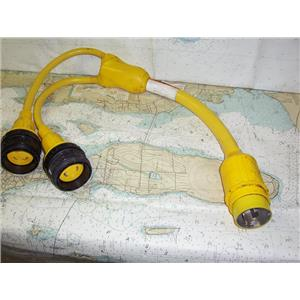 Boaters' Resale Shop of TX 1909 1024.07 MARINCO 153AY 50A TO TWO 30A Y-ADAPTOR