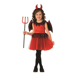 Red Classic Cute Devil Girl Dress Costume Medium 8-10