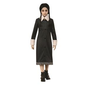 Wednesday Addams Family Black Dress Child Costume Medium 8-10