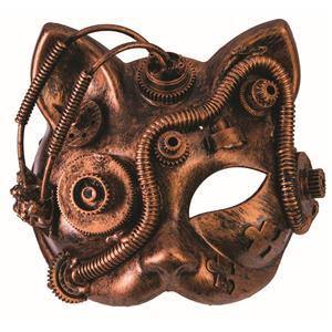 Steampunk Venetian Bronze Cat Eye Mask