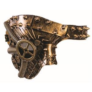 Phantom Steampunk Gold Spiked Venetian Mask