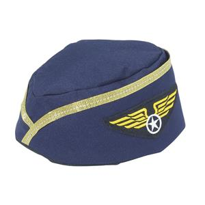 Stewardess Flight Attendant Navy Blue Hat