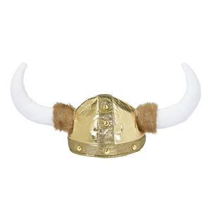 Nordic Viking Helmet with Attached Horns Adult Size