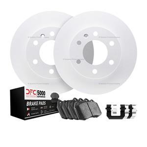 Front DFC GEOSPEC Brake Rotors 5000 Advanced Brake Pads  Hardware Ford Escape