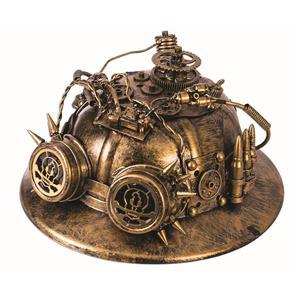 Steampunk Pith Explorer Helmet Gold Costume Hat