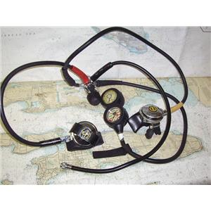Boaters' Resale Shop of TX 1909 1022.02 DACOR SCUBA TANK REGULATOR WITH GAUGES