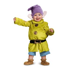 Snow White Deluxe Dopey Disney Halloween Baby Costume Size Infant 6-12 months