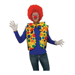Deluxe Polka Dot Clown Vest for Adults