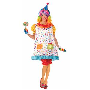 Women's Wiggles the Clown Adult Costume Size XL