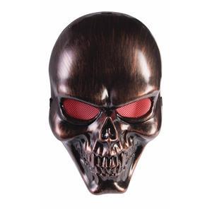 Bronze Skull Adult Face Mask