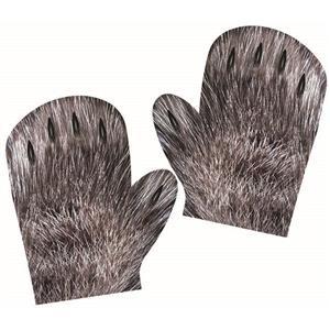 Child Werewolf Screen Print Monster Gloves Gloves