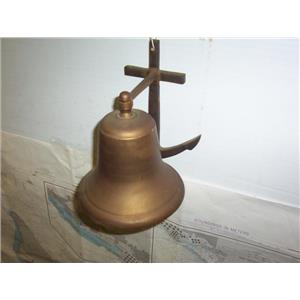 "Boaters' Resale Shop of TX 1909 2122.04 ANCHOR MOUNT 7.5"" BRONZE SHIPS BELL ONLY"