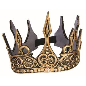 Gold Foam King or Queen Gothic Royalty Crown