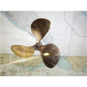 "Boaters' Resale Shop of TX 1909 2422.31 BRONZE 3 BLADE 17LH22 PROP FOR 1"" SHAFT"
