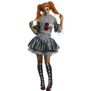 It Movie Deluxe Pennywise Clown Costume Adult Large