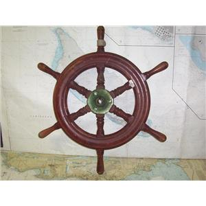 "Boaters' Resale Shop of TX 1909 2421.04 WOODEN 24"" SHIPS WHEEL FOR 3/4"" SHAFT"