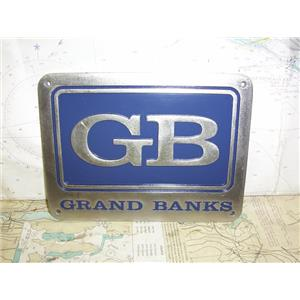 """Boaters' Resale Shop of TX 1909 1024.95 GRAND BANKS 6"""" x 8"""" STAINLESS NAME PLATE"""